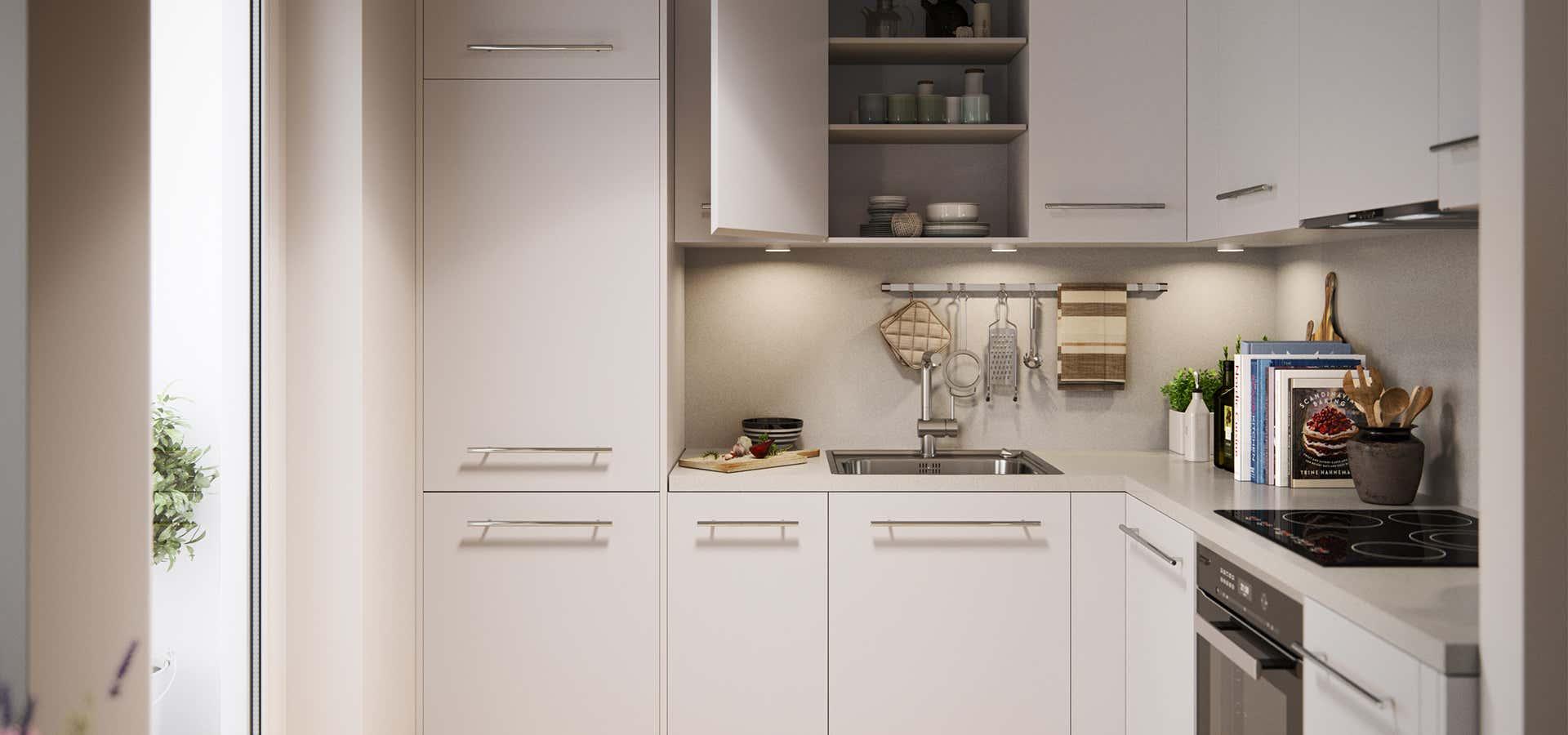 Bezaubernd Kleine Küchen Optimal Einrichten Referenz Von Contentassets/ec6d0b05d7a24751aa653de2af250c29/bonava_kueche_einrichten_klein.jpg